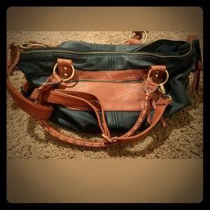 Aldo black and brown purse